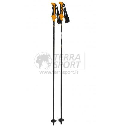 Kalnų slidinėjimo lazdos Komperdell Carbon Pure black/orange