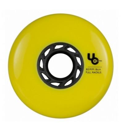 Riedučių ratukai Undercover TEAM 80mm/86A yellow