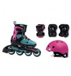Rollerblade Microblade Cube G emerald/pink skates