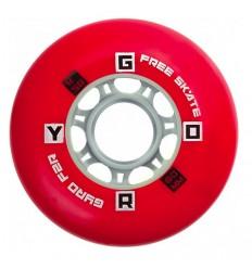 Riedučių ratukai GYRO F2R Red 85A