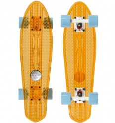 "Penny board'as Choke Dirty Harry 23.75""x6.5"" clear orange"