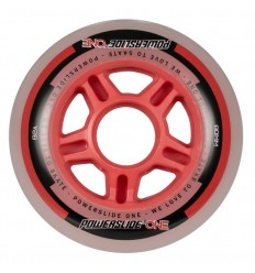 Powerslide One 80mm 82A inline skates wheels with bearings