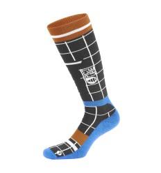 Picture Wooling BlkRipstop ElectricBlue Ski Socks