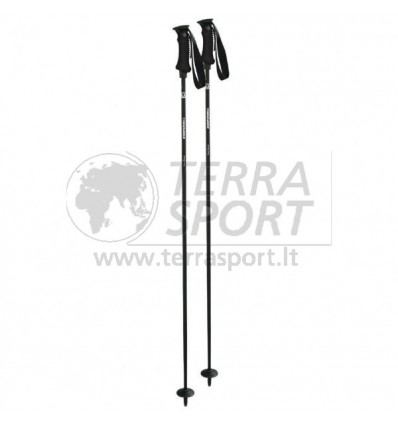 Kalnų slidinėjimo lazdos Komperdell Carbon Pure black